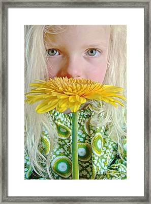 Gerbera Girl Framed Print