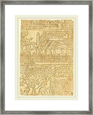 German 15th Century, Apocalypse Of John, Leaf 42 Framed Print