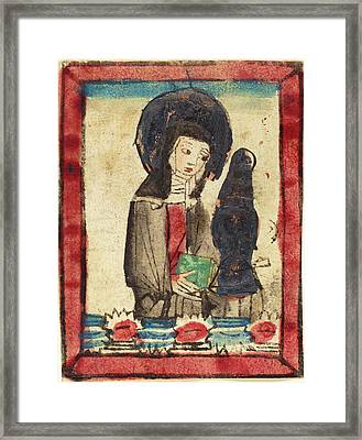 German 15th Century, Saint Clare Of Assisi, 1450-1470 Framed Print