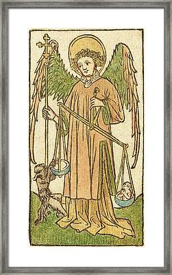 German 15th Century, Saint Michael Framed Print by Quint Lox