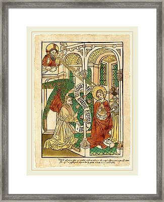 German 15th Century, The Annunciation Framed Print by Litz Collection