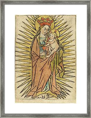 German 15th Century, The Madonna And Child With A Pear Framed Print