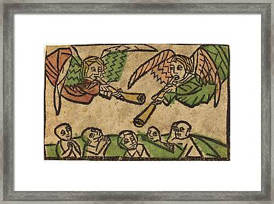 German 15th Century, The Resurrection Of The Dead Framed Print