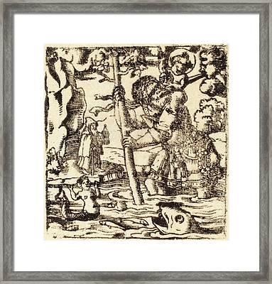 German 16th Or 19th Century, Saint Christopher Framed Print