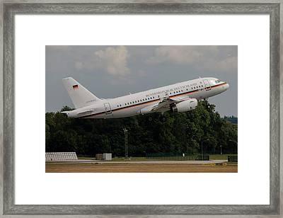 German Air Force Vip Shuttle A319 Framed Print by Timm Ziegenthaler