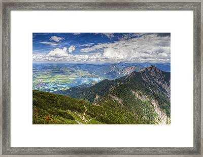 Framed Print featuring the photograph German Alps View I by Juergen Klust