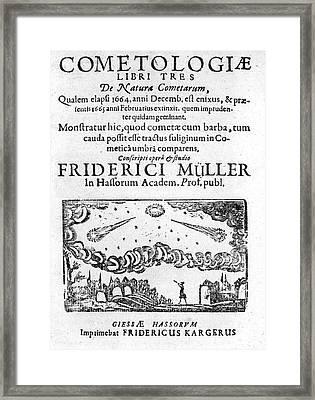 German Book On The Comet Of 1664-5 Framed Print