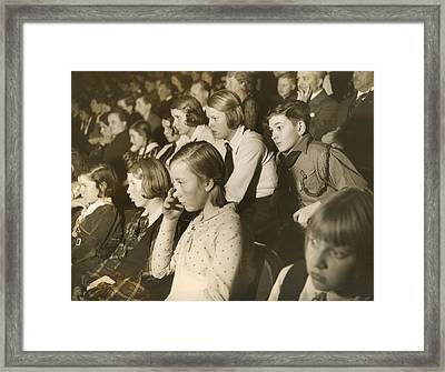 German Children At A Theater Framed Print