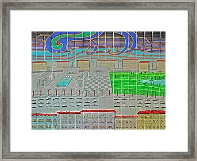 German Cityscape Framed Print
