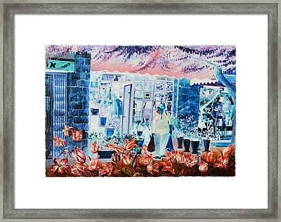 German Colony Flowers Framed Print by Nekoda  Singer
