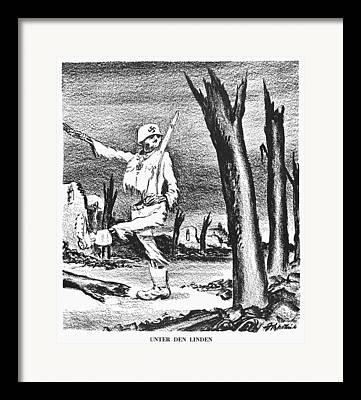 Anti Nazism Framed Prints