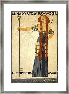 German Festival Playbill 1910 Framed Print by Padre Art
