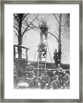 German Field Observers Framed Print by Library Of Congress