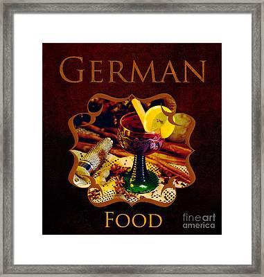 German Food Gallery Framed Print