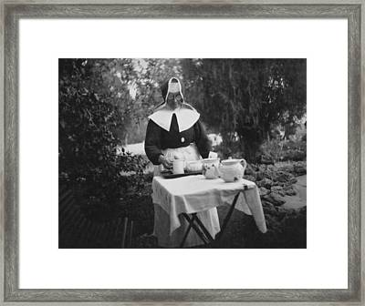 German Hospice At Haifa Framed Print by Underwood Archives