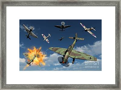 German Ju 87 Stuka Dive Bombers Framed Print