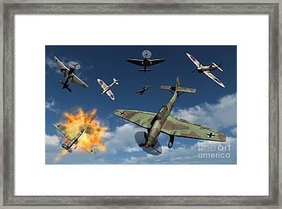 German Ju 87 Stuka Dive Bombers Framed Print by Mark Stevenson