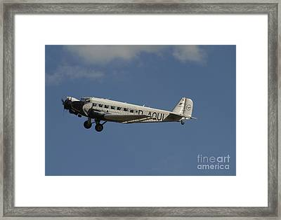 German Junkers Ju 52 Flying Framed Print