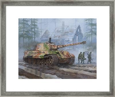 German King Tiger Tank In The Battle Of The Bulge Framed Print