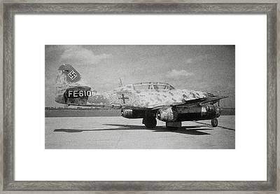 German Me 262 Wwii Jet Fighter Framed Print by Science Photo Library