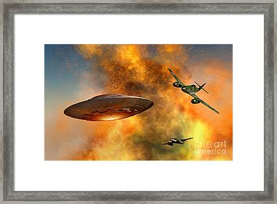 German Messerschmitt 262 Jetfighter Framed Print by Mark Stevenson