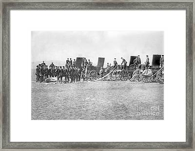 German Military Balloon Corps, 1910s Framed Print by Library Of Congress