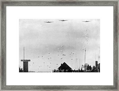 German Paratroopers In Holland Framed Print