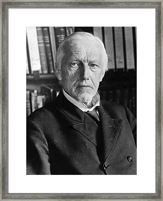 German Philologist Wilamowitz Framed Print by Underwood Archives