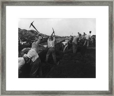 German Political Prisoners At Hard Framed Print by Everett