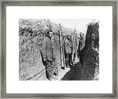 German Pows With Stretchers Framed Print by Underwood Archives