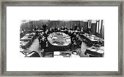 German Reparations Committee Framed Print by Underwood Archives