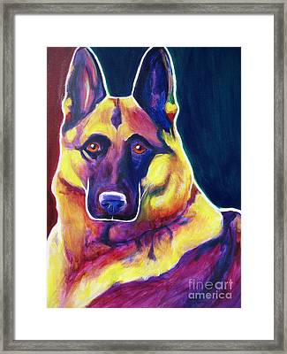 German Shepherd - Burner Framed Print by Alicia VanNoy Call