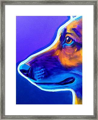 German Shepherd - Face Framed Print by Alicia VanNoy Call