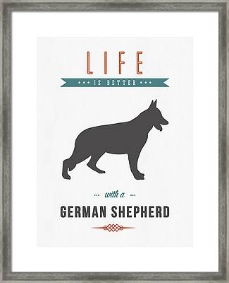German Shepherd 01 Framed Print by Aged Pixel