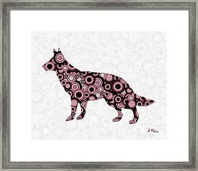 German Shepherd - Animal Art Framed Print by Anastasiya Malakhova