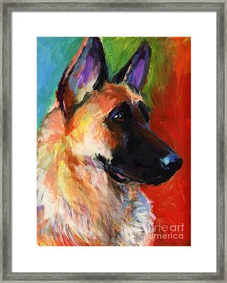 German Shepherd Dog Portrait Framed Print by Svetlana Novikova