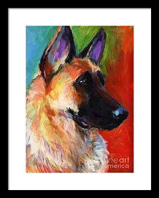 German Shepherd Framed Prints