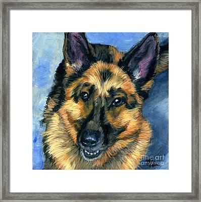 German Shepherd Framed Print by Hope Lane