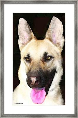 German Shepherd - Lover Framed Print by Sharon Cummings