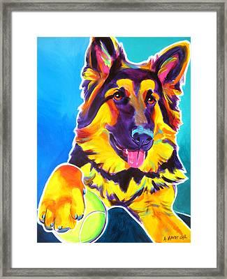 German Shepherd - Mace Framed Print