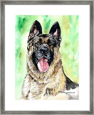 German Shepherd Framed Print by Tracy Rose Moyers