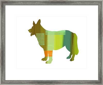 German Sheppard 1 Framed Print by Naxart Studio