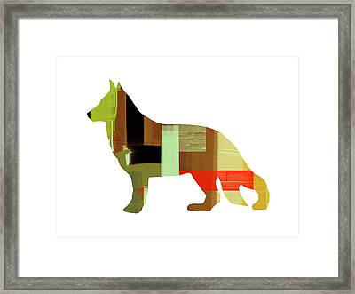 German Sheppard 2 Framed Print by Naxart Studio