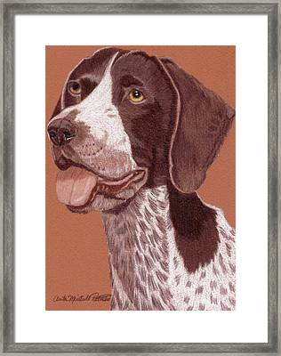 German Shorthair Pointer Vignette Framed Print