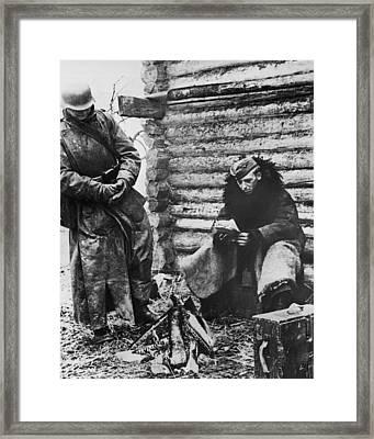 German Soldiers In Russia Framed Print