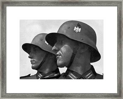 German Soldiers Portrait Framed Print by Underwood Archives