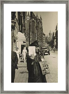 German Street Vendor Sells Nazi Framed Print