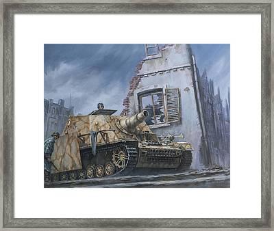German Sturmpanzer In Cisterna Italy 1944 Framed Print by Philip Arena