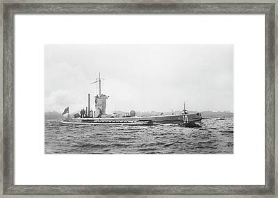 German Submarine Framed Print by Library Of Congress