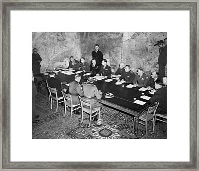 German Surrender Ceremony Framed Print